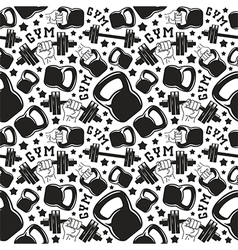 Seamless pattern gym club vector