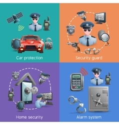 Security Design Concept Set vector image