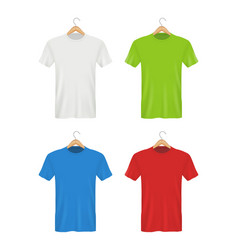 shirt on hanger colored blank clothes for adults vector image