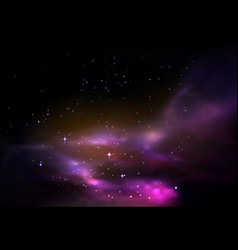 Space or universe galaxy or cosmos panorama vector