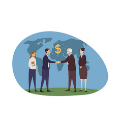 success globalization contract meeting vector image