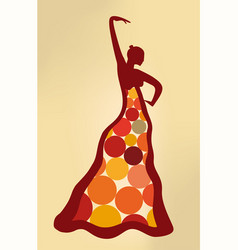 Surreal artistic flamenco dancer vector