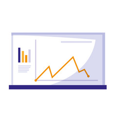 Template webpage with statistics graphic vector