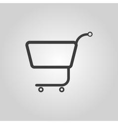 The shopping cart icon Shopping cart Flat vector image