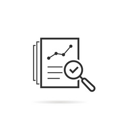 thin line assess icon like review audit risk vector image
