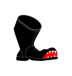 Torn boots with teeth poor old shoes isolated vector