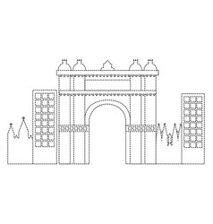 Triumphal arch of barcelona spain site history vector