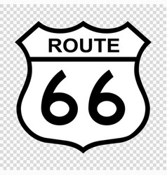 Us route 66 sign vector