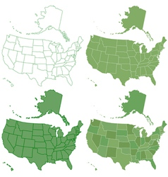USA map set vector image