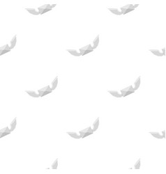 White envelope with two wings pattern flat vector