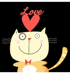 With love cat vector
