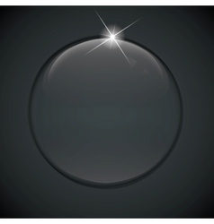 black bubble on background vector image vector image