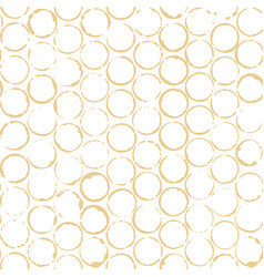 brown coffee or tea round stains seamless vector image