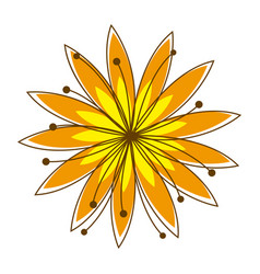 Colorful background with yellow flower vector