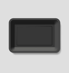 empty plastic container vector image