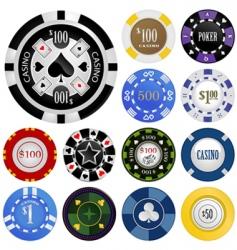 Gambling chips vector