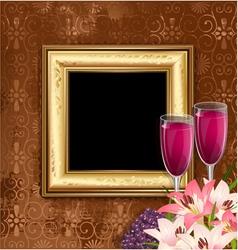 glass wine fruit vector image vector image