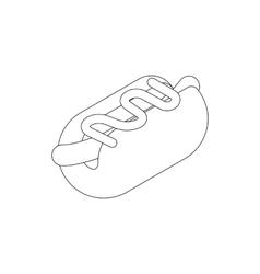 Hotdog icon isometric 3d style vector image