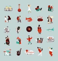 jazz musicians set vector image vector image
