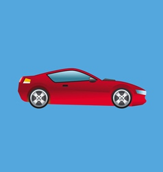 sports car red vector image vector image
