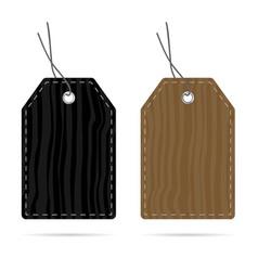 Tag wood texture design set color vector