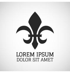 Black silhouetted of Fleur-de-lis symbol vector image