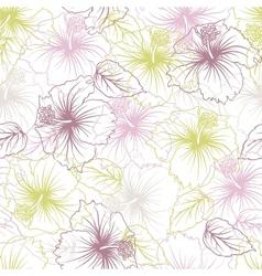 Elegance seamless pastel flower pattern vector image vector image