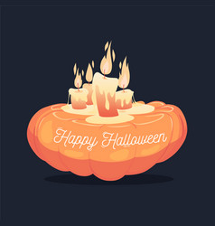 happy halloween card background poster vector image