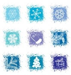 set Christmas icons vector image vector image