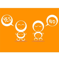 yes no vector image