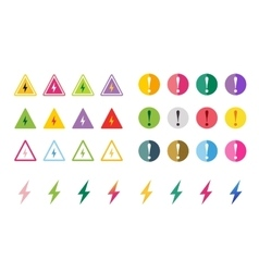 Attention warning sign icons set vector image vector image