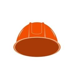 orange hard hat working vector image vector image