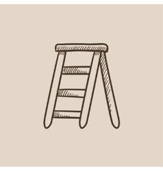 Stepladder sketch icon vector image