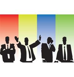 Businessmen on tribune vector image