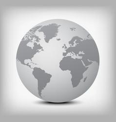 gray globe icon on light gray vector image