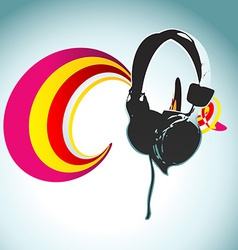 headphone design vector image vector image