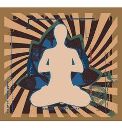 yoga zen vector image