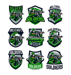 a collection colorful logos badges emblems of vector image
