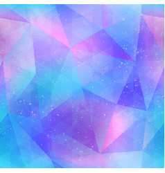 abstract blue color triangles seamless pattern vector image