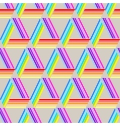 Abstract geometric seamless pattern triangles vector