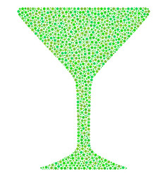 alcohol glass composition of dots vector image