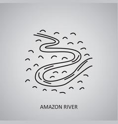 Amazon river icon brazil manaus line icon vector