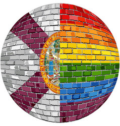 Ball with florida and gay flags vector