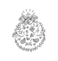 black outline flourishes and decorative ornaments vector image