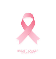 breast canser pink ribbon national breast cancer vector image