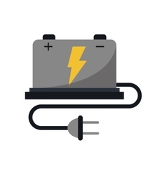 car battery high voltage mechanic cable vector image