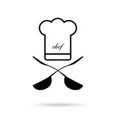 Chef kitchen icon vector