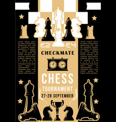 chess game chessboard with pieces vector image