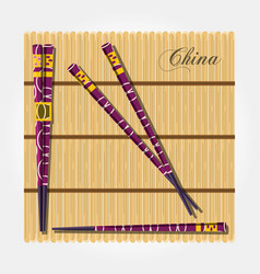 China culture chopsticks icon vector