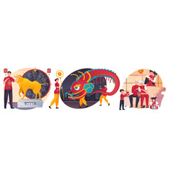 chinese new year composition vector image